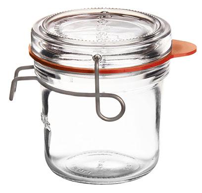 Lock-Eat Einmachglas 200 ml, mit Glasdeckel und Gummiring, im 6er-Karton