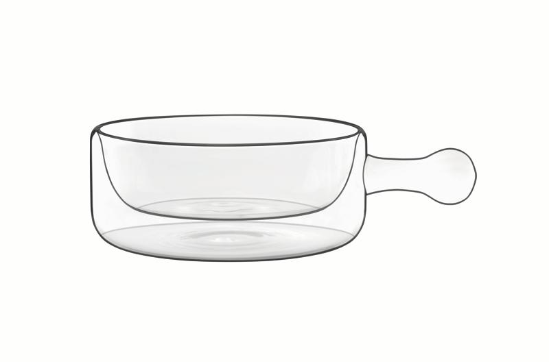 Food & Design Schälchen mit Griff 0,25 l Thermic Glass, 2 Stück im Geschenkkarton