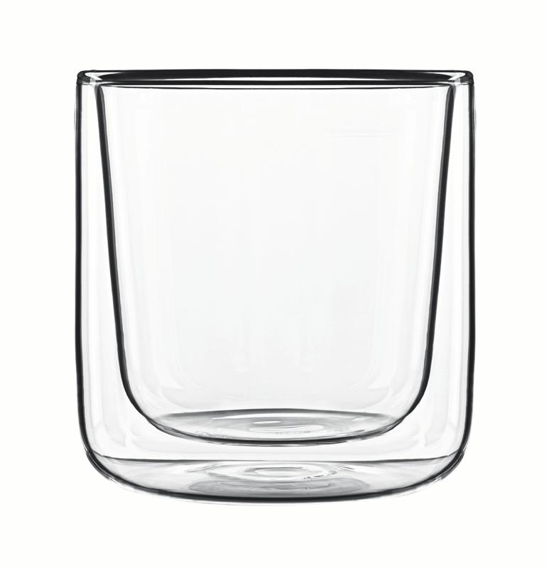 Food & Design Glas 110 ml zylindrisch Thermic Glass, im 2er Geschenkkarton