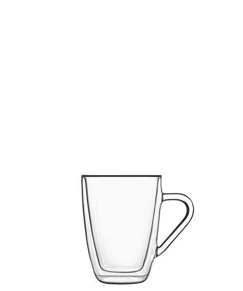 Drink & Design Henkelbecher 320 ml Thermic Glass, im 2er Geschenkkarton