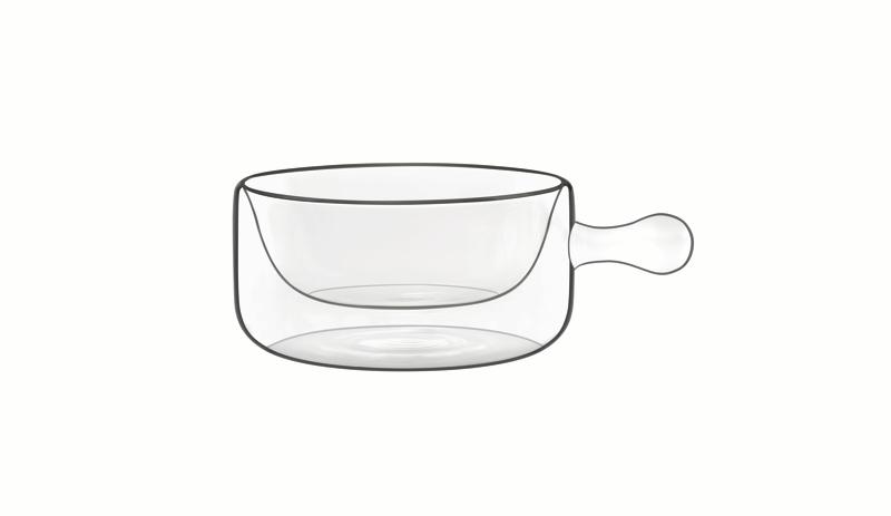 Food & Design Schälchen mit Griff 0,16 l Thermic Glass, 2 Stück im Geschenkkarton