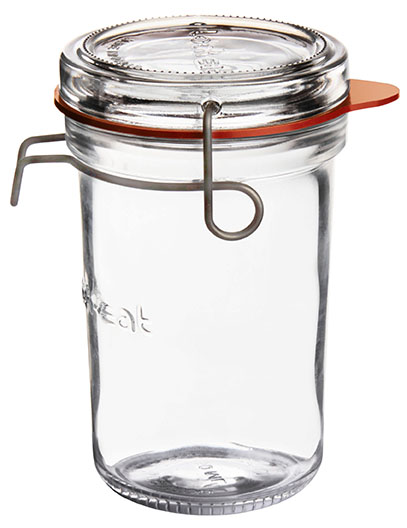 Lock-Eat Einmachglas 350 ml, mit Glasdeckel und Gummiring, im 6er Karton