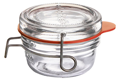 Lock-Eat Einmachglas 80 ml, mit Glasdeckel und Gummiring, im 6er-Karton