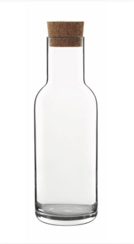 Sublime Karaffe 1000 ml mit Korkstopfen, im Geschenkkarton