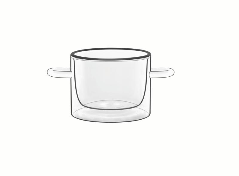 Food & Design Schälchen mit Henkeln 0,12 l Thermic Glass, 2 Stück im Geschenkkarton