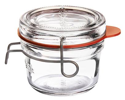 Lock-Eat Einmachglas 125 ml, mit Glasdeckel und Gummiring, im 6er Karton