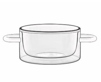 Food & Design Schälchen mit Henkeln 0,27 l Thermic Glass,  2 Stück im Geschenkkarton