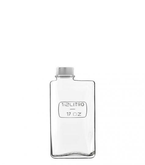 Optima Flasche 500 ml rechteckig mit Schraubverschluss